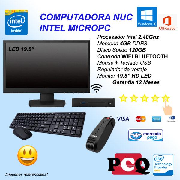 MINIPC DC 4GB 120GB TM EST MON 19.5