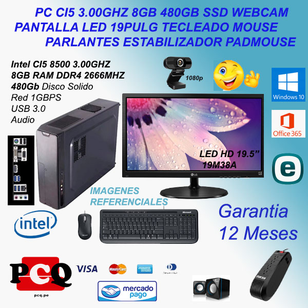 "PC CI5 8GB 480GB  19.5"" TMP EST WEBCAM"