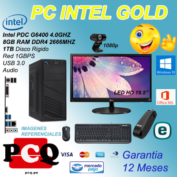 "PC PDC 8GB 1TB PANT 19.5"" TMP EST WEBCAM"